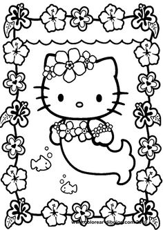 Hello kitty coloring pages.Hello kitty printable coloring drawings