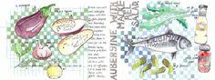 Aubergine and mackerel salad<span class='title_artist'> by Dorine van der Vloodt</span>