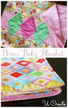 The One-Hour Baby Blanket - u-createcrafts.com