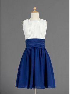 Junior Bridesmaid Dresses - $121.99 - A-Line/Princess Scoop Neck Knee-Length Chiffon Junior Bridesmaid Dress With Ruffle  http://www.dressfirst.com/A-Line-Princess-Scoop-Neck-Knee-Length-Chiffon-Junior-Bridesmaid-Dress-With-Ruffle-009014656-g14656