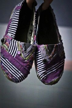 Patchwork TOMS by Save Your Scissors on Etsy. I actually like these Toms!