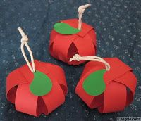Paper Apple Decorations