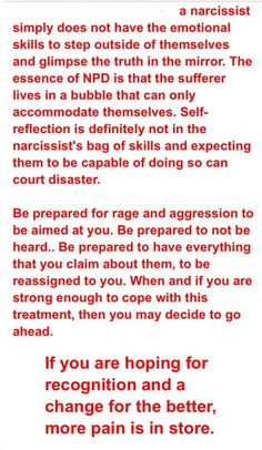 Confronting a narcissist about being a narcissist. It's better not to.