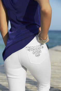 Every woman needs a bit of bling at her back pocket. #chicos