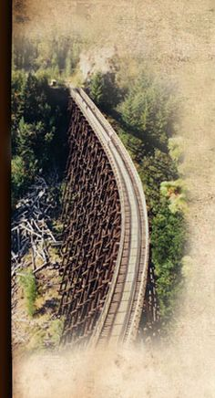 Kettle Valley Rail Trail, British Columbia — 280 miles  The big attraction here are the stunning trestle bridges, long tunnels, and mountain scenery glimpsed from an easy grade that never exceeds 2.2%. (Many of the trestles were destroyed in a forest fire in 2003 but are being rebuilt. The photo shows a rebuilt trestle.) Ten days is a easy decent trip.