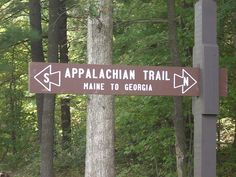 Appalachian Trail sign in Pennsylvania -- what to hike it someday