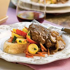 Hamburger+Steak+With+Sweet+Onion-Mushroom+Gravy+|+MyRecipes.com