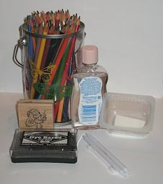 Blending colored pencils with baby oil