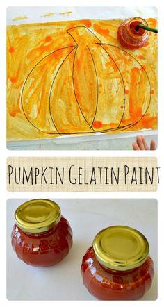 Pumpkin Gelatin Paint- homemade and has a great texture