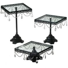 Juliet Cake Stand - Black