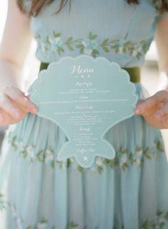 #menus Photography by esthersunphoto.com/  Read more - http://www.stylemepretty.com/2013/09/23/laguna-beach-wedding-from-esther-sun/