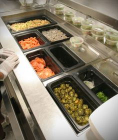 Grab and go sandwich toppings at a high school in Arizona.