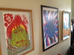 Mike and Kathy keep our Nihilist Spasm Band , Solider print and Hot Snakes gigposter (2002 , old skool) in the hallway to frighten away potential burglars in Edmonton.