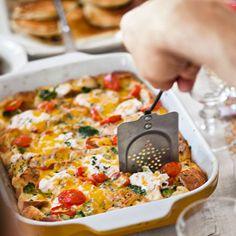 Tomato-Cheddar Strata with Broccoli via Country Living