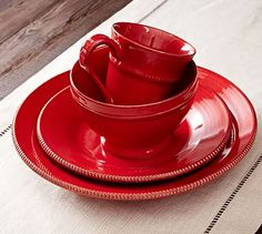 Gabriella Dinnerware - Red #potterybarn