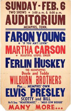 Elvis Presley February 6, 1955 Concert Poster