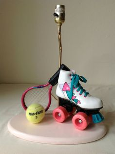 Awesome 80s Vintage Roller Skate Tennis Lamp by venusloon on Etsy, $50.00