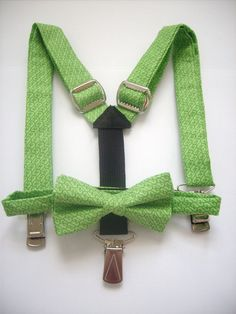 bow tie and suspenders for toddler boy  bright green by golubchick, $35.00