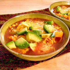 Mexican Tortilla Soup. (Family loved it. Combined it with a similar recipe. Tastes great when served with black bean nachos)