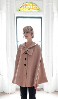 The Deneuve Cape  CAMEL  READY To SHIP  One by alexandragrecco, $330.00