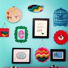 Project nursery gallery wall