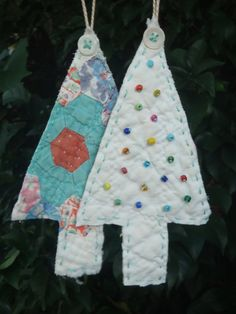 Vintage Quilt Ornaments Christmas Tree