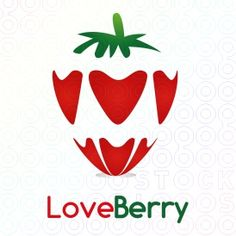 For being here,  In fact, you already in love with Strawberry!! :)    This cute logo combines between hearts and strawberry.  It can be used for any business as kids learning, children games, web developer, internet, technology, blog, farm, garden, healthy food & drink.