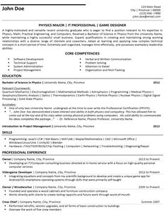 Example Resume: Game Warden Resume Example
