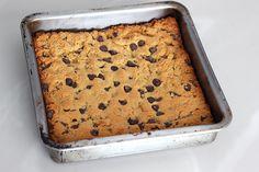 Grain-Free Chocolate Chip Cookie Bars - Gluten-Free + Dairy-Free
