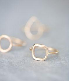 simple square ring; anne kiel.