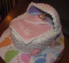 Coolest Baby Ella Carriage Cake... This website is the Pinterest of birthday cake ideas