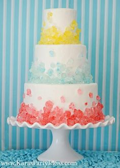 Candy cake - this would be adorable for a kids bday party...hmmm oh mother wanna make it! lol
