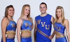 I like these costumes... great for college twirlers. Blue and gold really looks great on a field!