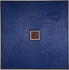 """Sol LeWitt, """"Wall Structure Blue"""" (1962)   sculpture   oil on canvas and painted wood    Source: http://www.sfmoma.org/explore/collection/artwork/20240#ixzz1jCB5VWs2   San Francisco Museum of Modern Art"""