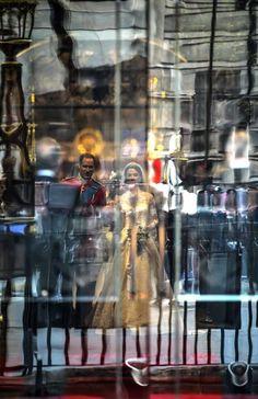 Royal Wedding Duke and Duchess of Cambridge before the doors were opened