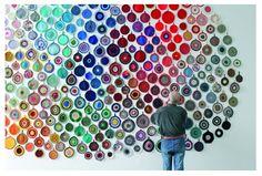 Bright Things: Anu Tuominen's Crochet Potholder Installation