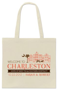 A cute Charleston tote for all you lovely #Chs brides! #ww Had fun making this @iloveswmag!