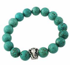 Elephant Bracelet #turquoise #stone #jewelry #homemade #handmade #etsy #african