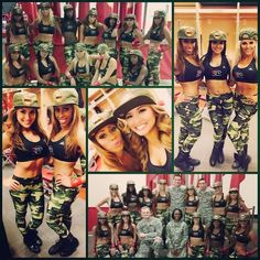 Houston Rockets Dancers Honor the Military