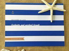 nautical guestbook, wedding guest book, guest books, garland banner, banner garland