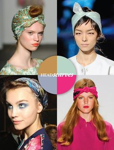 ways to wear head scarves