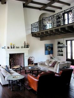 Spanish Colonial style home with catwalk...