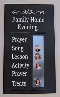 fhe board. What a cute idea!