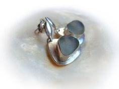 Genuine Sea Glass Silver Earrings100 by JewelryartNassarius, €45.00