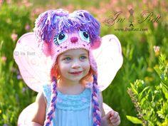 crochet hat, animal hats, angel hat, crochet pdf, crochet angel, pattern, anim hat, crochet animals, abbi cadabbi