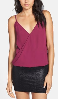 Pair this camisole with a black blazer, skinny jeans and pumps