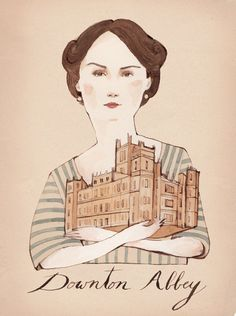 Kelsey Garrity Riley Illustration - Downton Abbey