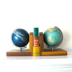 Bauhaus Mid Century Vintage Globe and Celestial by opendoorstudio, $325.00