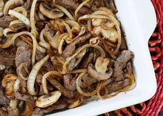 Quick Skillet Steak with Mushrooms and Onions #mushroom #onion #dinner #lowcarb #steak