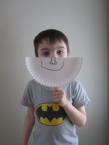 Emotions paper masks to learn about our feelings as part of 'all about me'